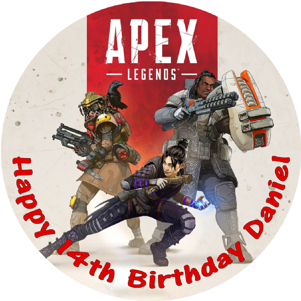 APEX LEGENDS BATTLE ROYALE PERSONALISED BIRTHDAY CAKE EDIBLE TOPPER